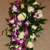 Brides Shower bouquet of orchids and roses