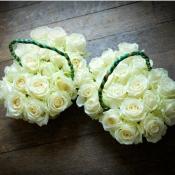 Flower girl baskets of Avalanche Roses