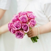 Hand tied Bridesmaid  bouquet of Cool-water Roses