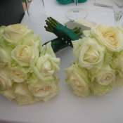 Hand tied Bridesmaids bouquet of Avalanche Roses